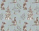 Premier Prints Asian Toile Regal Blue/Slub Canvas