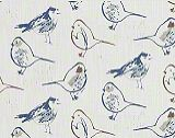 Premier Prints Bird Toile Regal Blue/Slub Canvas