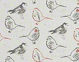 Premier Prints Bird Toile Scarlet/Slub Canvas