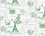 Premier Prints French Stamp Grasshopper Kelly Natural