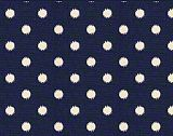 Premier Prints Ikat Dots Sunshine Blue Natural
