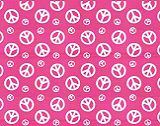 Premier Prints Peace - Candy Pink/White