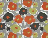 Robert Allen Top Floral Orange Crush