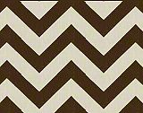 Premier Prints Zigzag - Village Brown/Natural