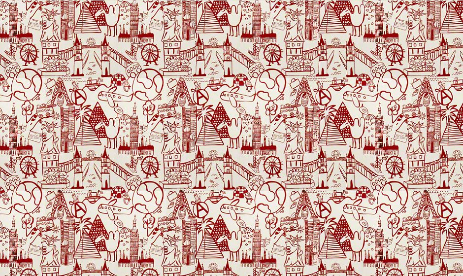Highland Taylor Fabrics - 31137-RED fabric image