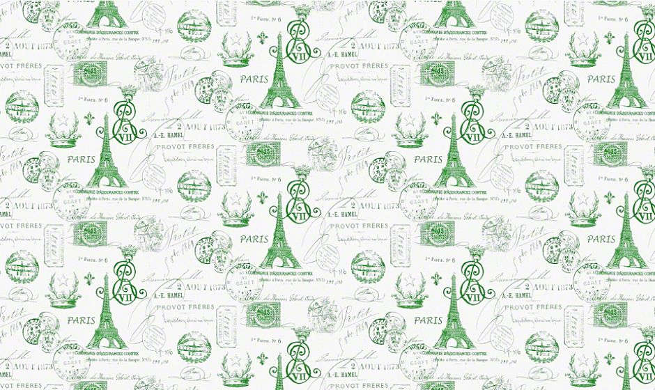 Premier Prints Inc. - FRENSTMPGRKNA fabric image
