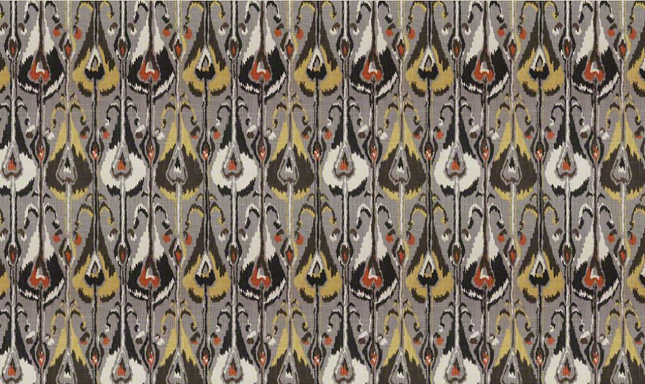 Robert Allen Ikat Bands Greystone RA-232425 | Cushion Source
