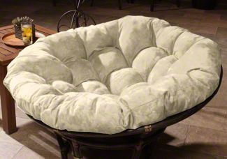 in frame imports shop zoom papasan loveseat taupe chair double pier