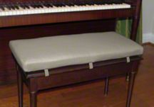 custom piano bench cushion