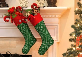 Set Of 2 Custom Christmas Stockings