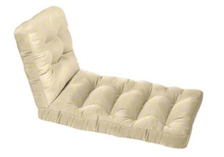 Custom Tufted Wicker Chaise Lounge Cushion Set